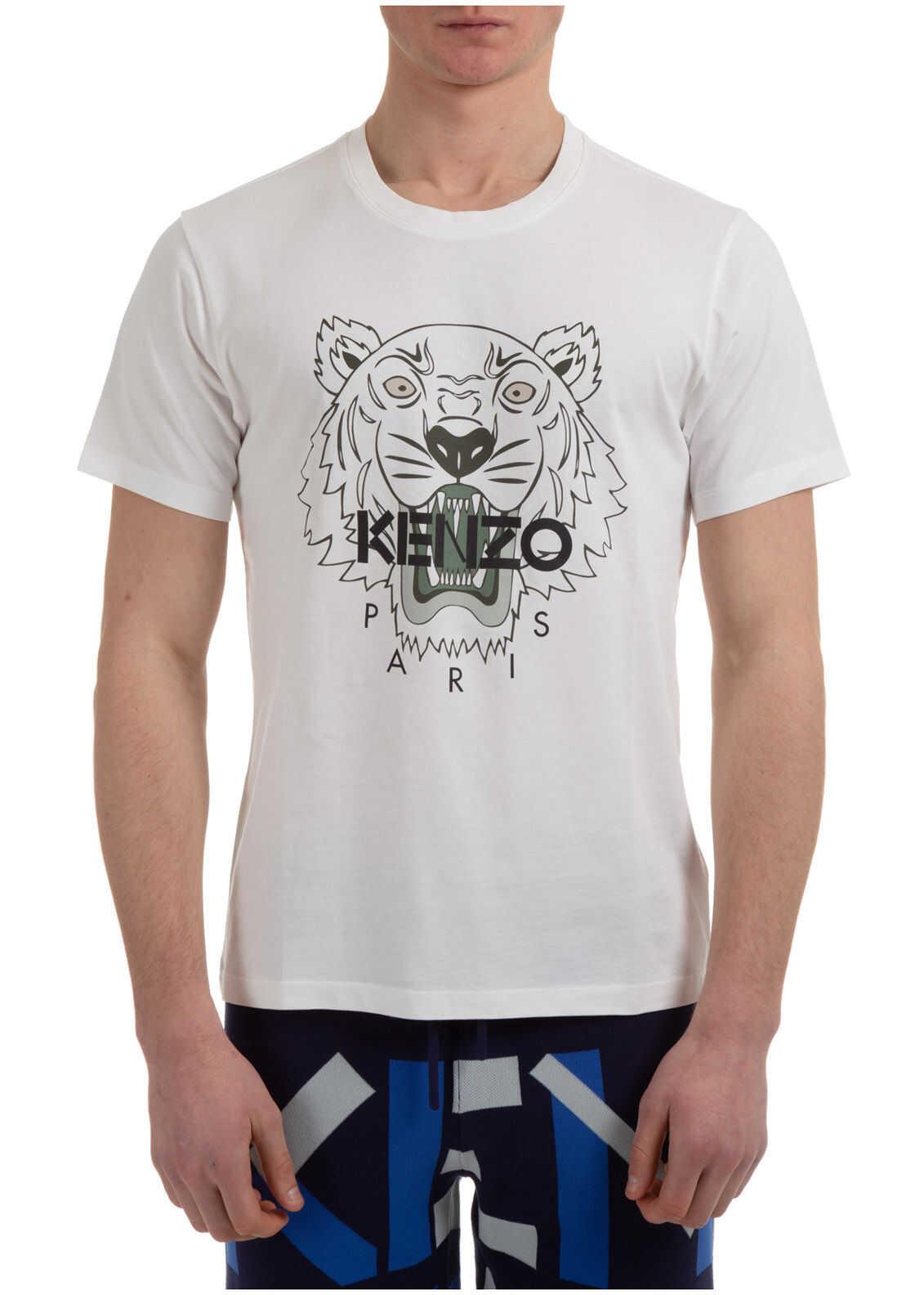 Kenzo Jumper Tiger White imagine