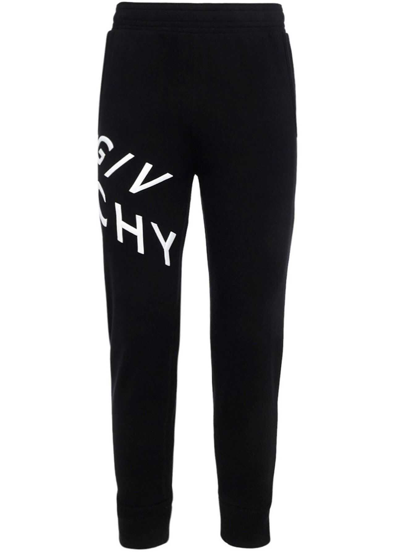Givenchy Contrasting Logo Joggers In Black Black imagine