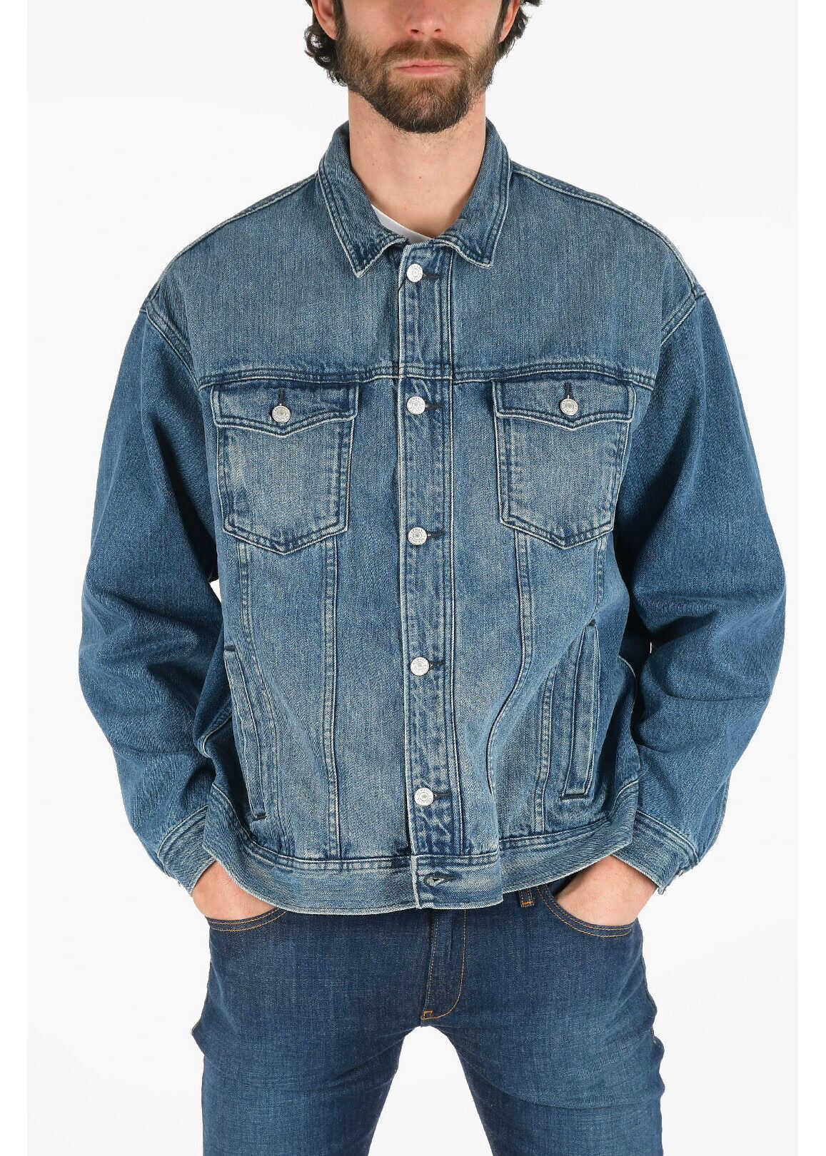 Armani ARMANI EXCHANGE Stonewashed Denim Jacket BLUE imagine