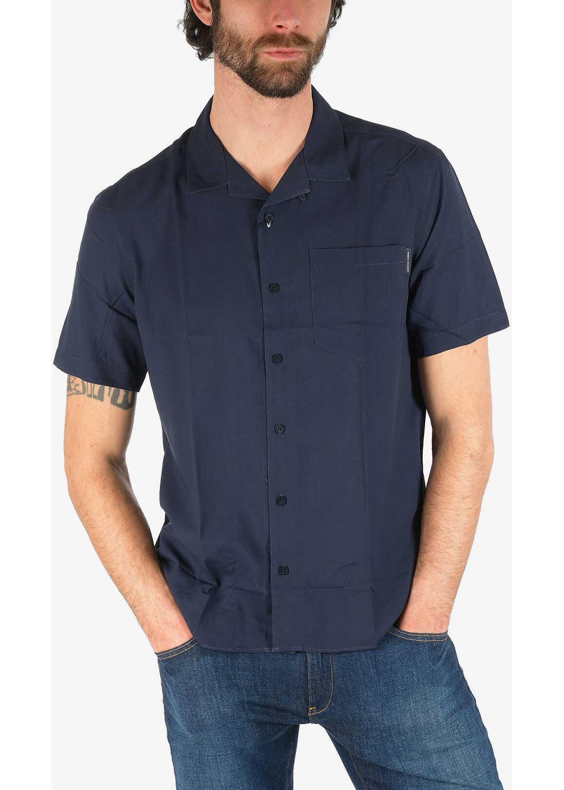 Armani ARMANI EXCHANGE Short Sleeve Shirt with Breast pocket BLUE imagine