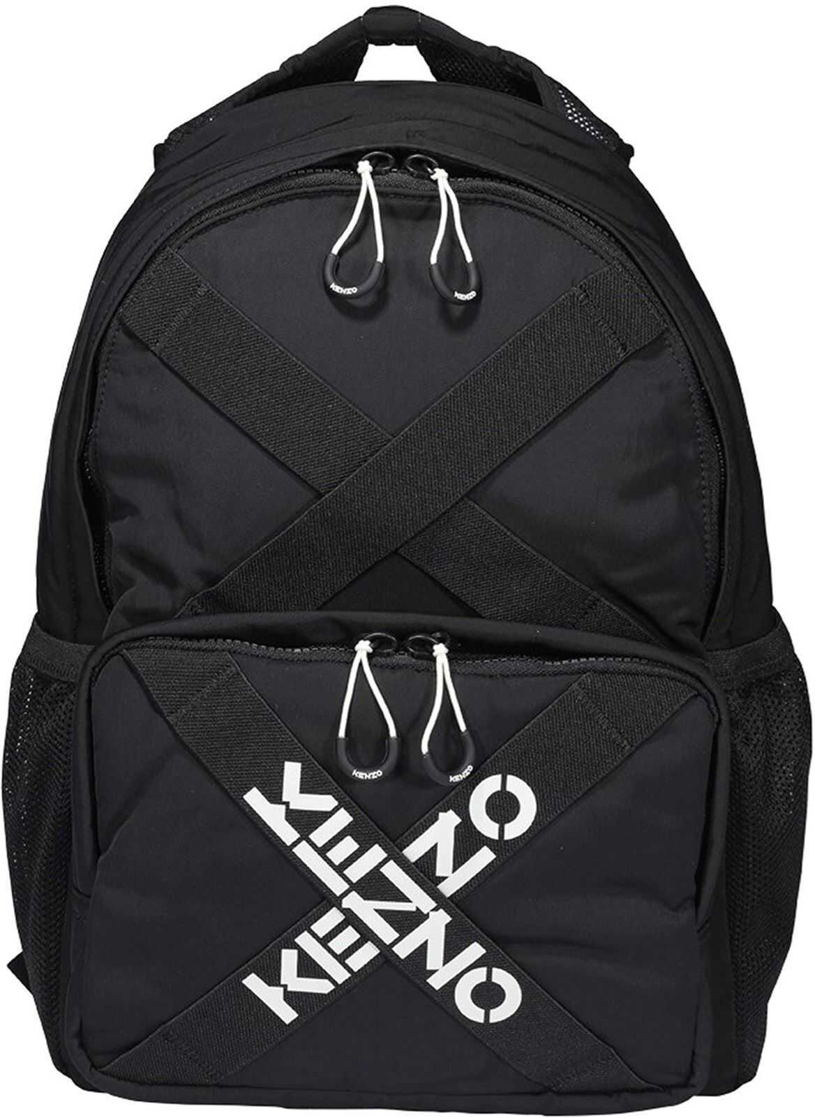 Kenzo Tech Fabric Backpack In Black FA65SA213F2199 Black imagine b-mall.ro