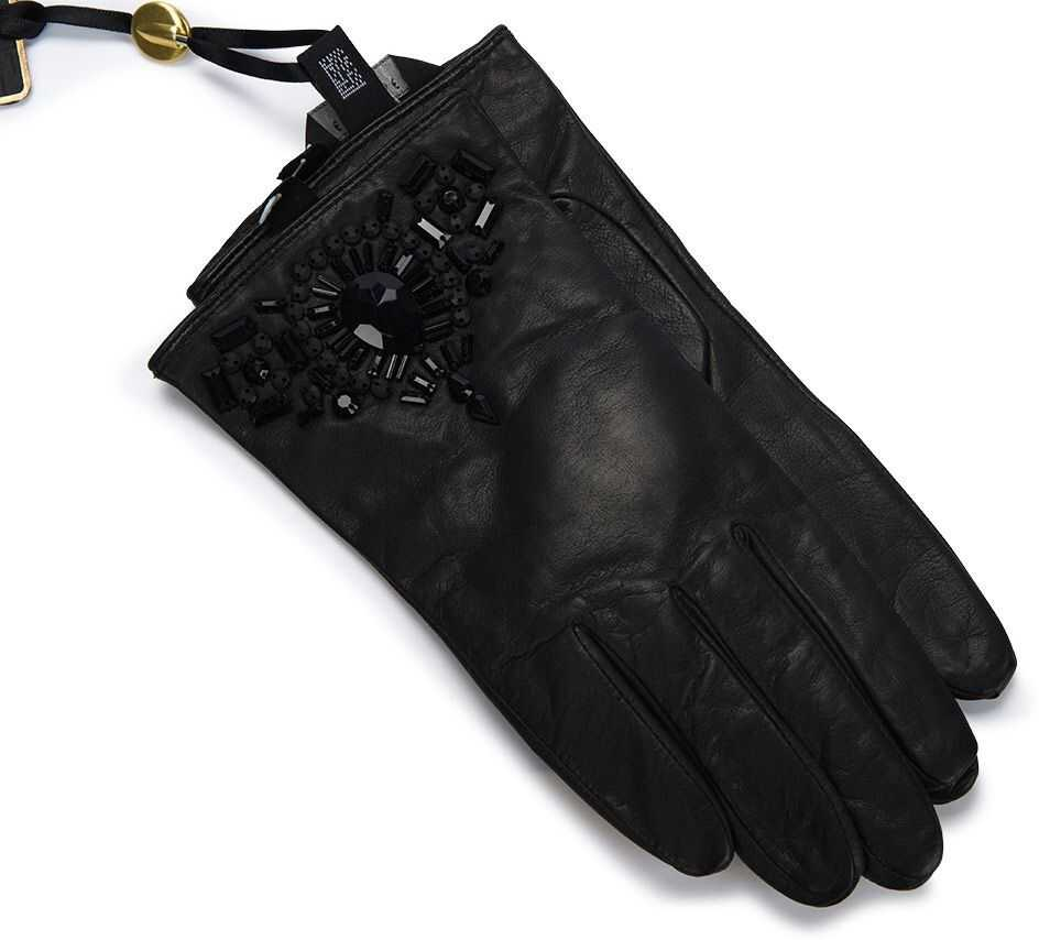 Ted Baker Embellished Detail Leather Glove XA4W Black