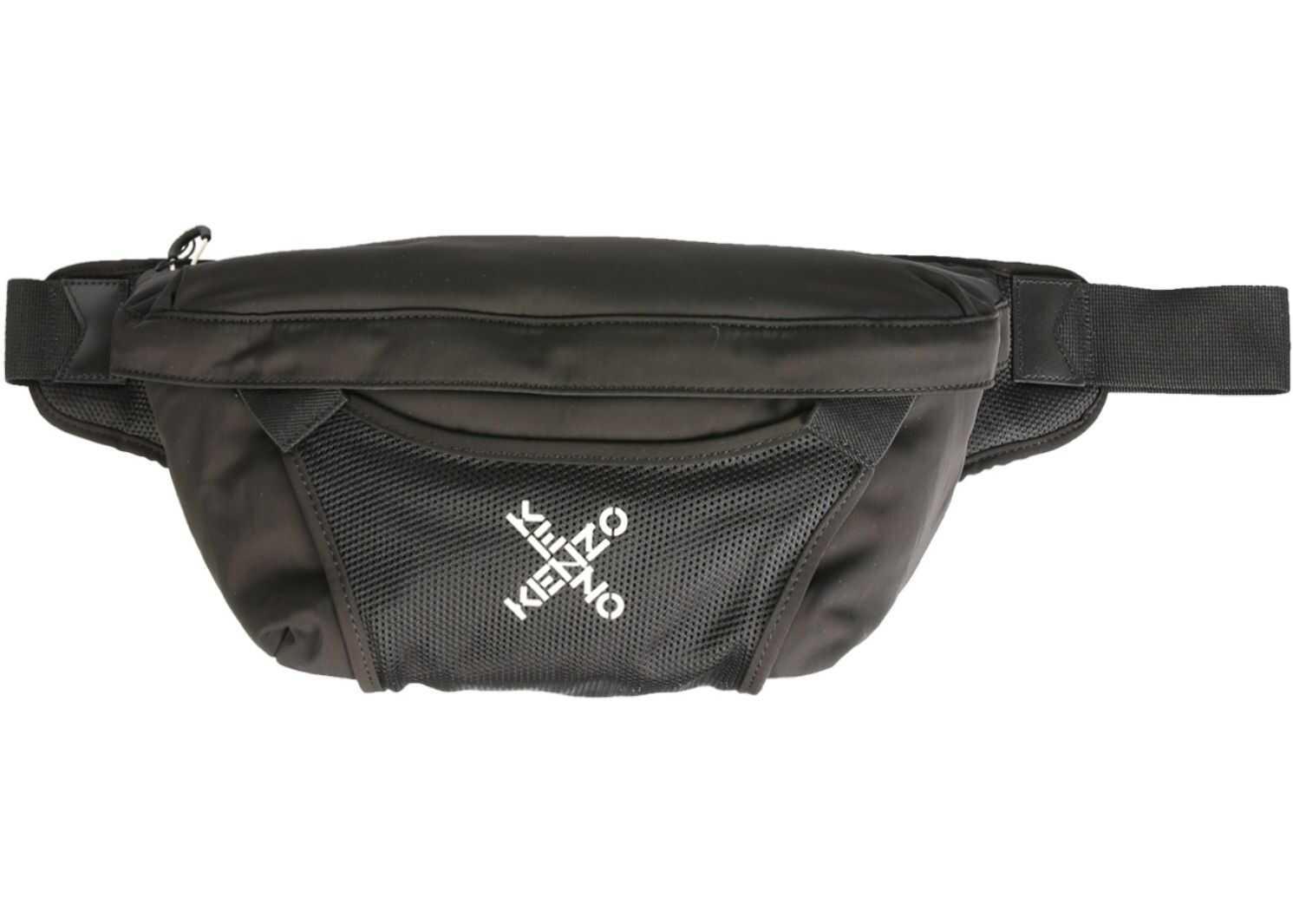 Kenzo Large Belt Bag With Logo FA65SA222_F2199 BLACK imagine b-mall.ro