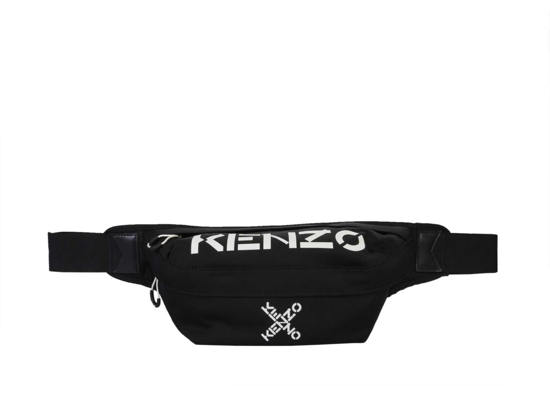 Kenzo Belt Bag With Logo FA65SA221_F2199 BLACK imagine b-mall.ro
