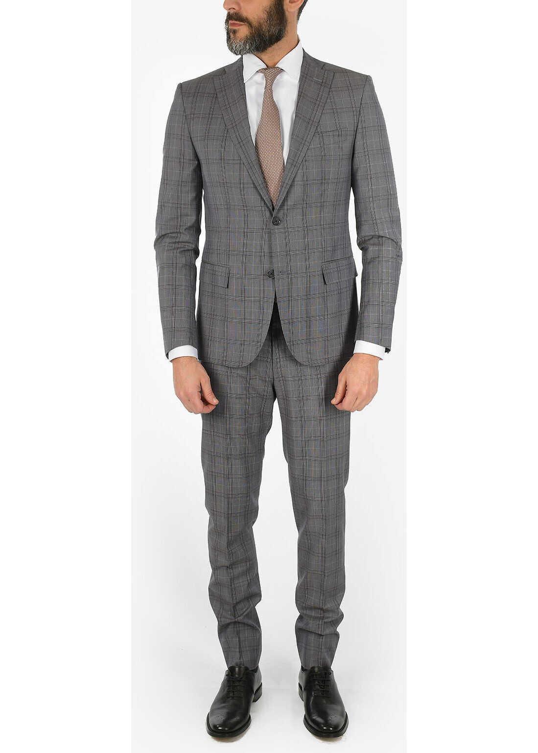 CORNELIANI CC COLLECTION RESET plaid virgin wool suit GRAY imagine