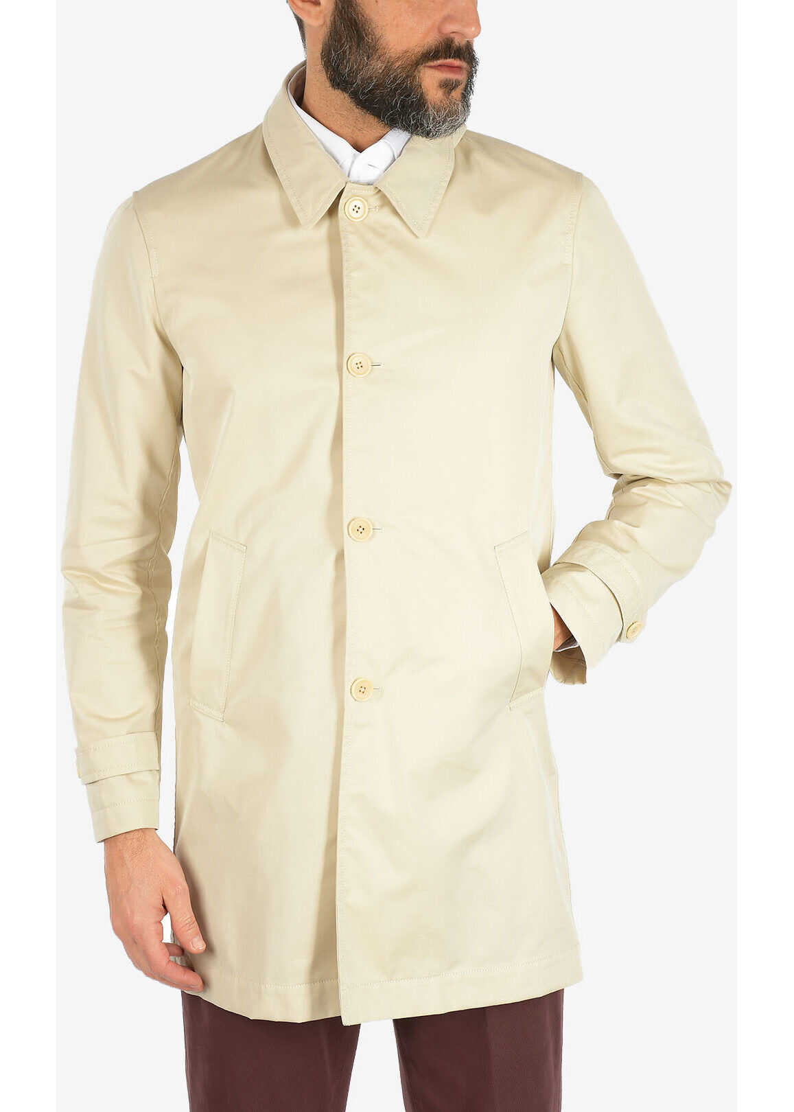 CORNELIANI CC COLLECTION zipped coat BEIGE imagine