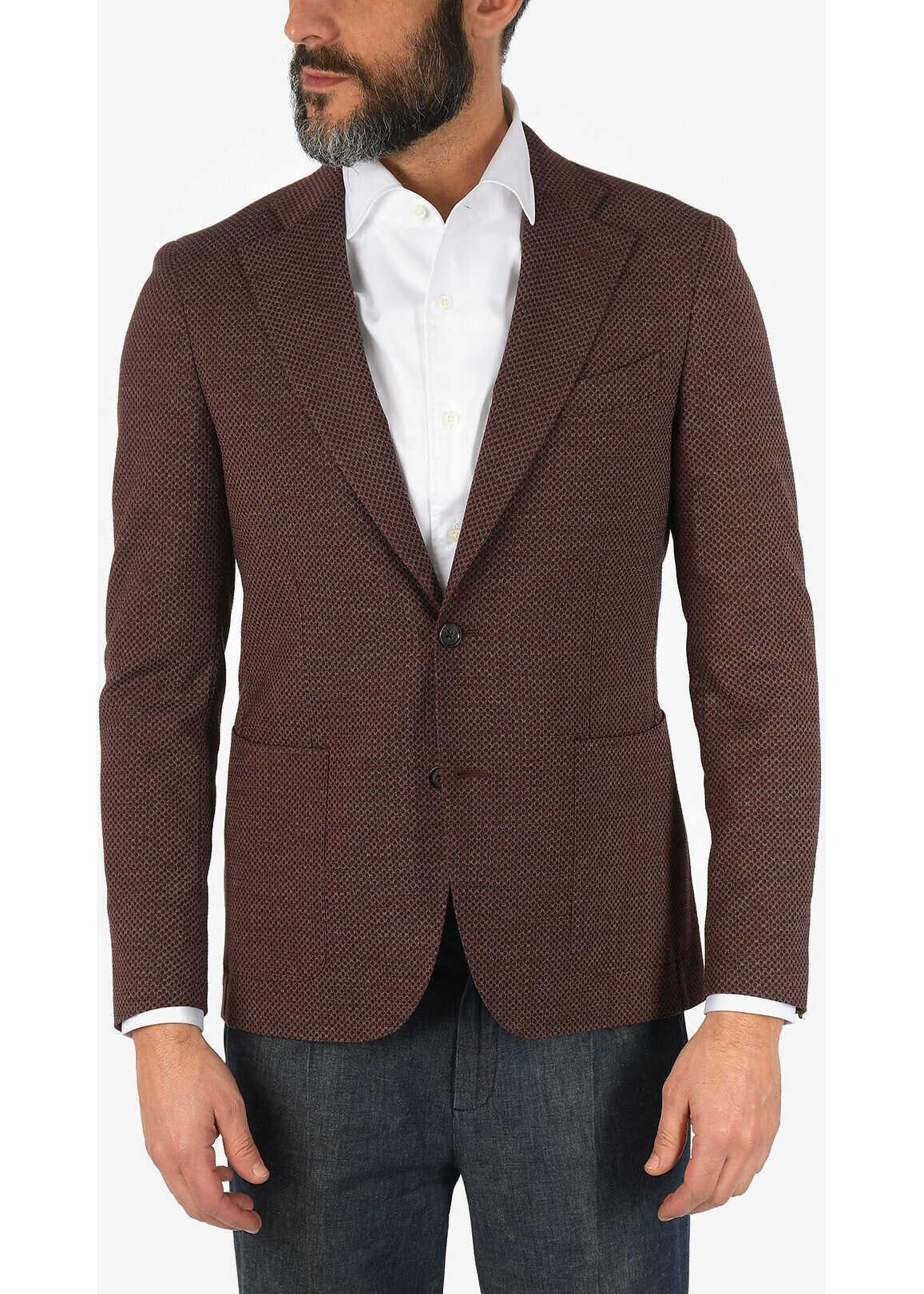 CORNELIANI CC COLLECTION virgin wool REWARD blazer BURGUNDY imagine