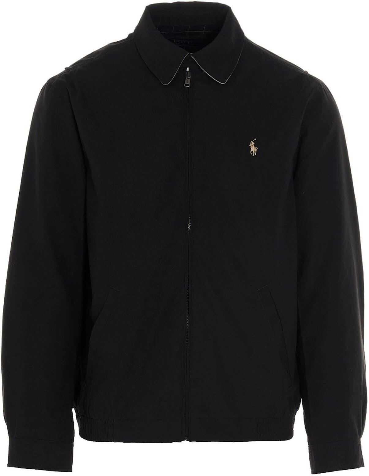 Ralph Lauren Bi-Swing Windbreaker Jacket In Black Black imagine
