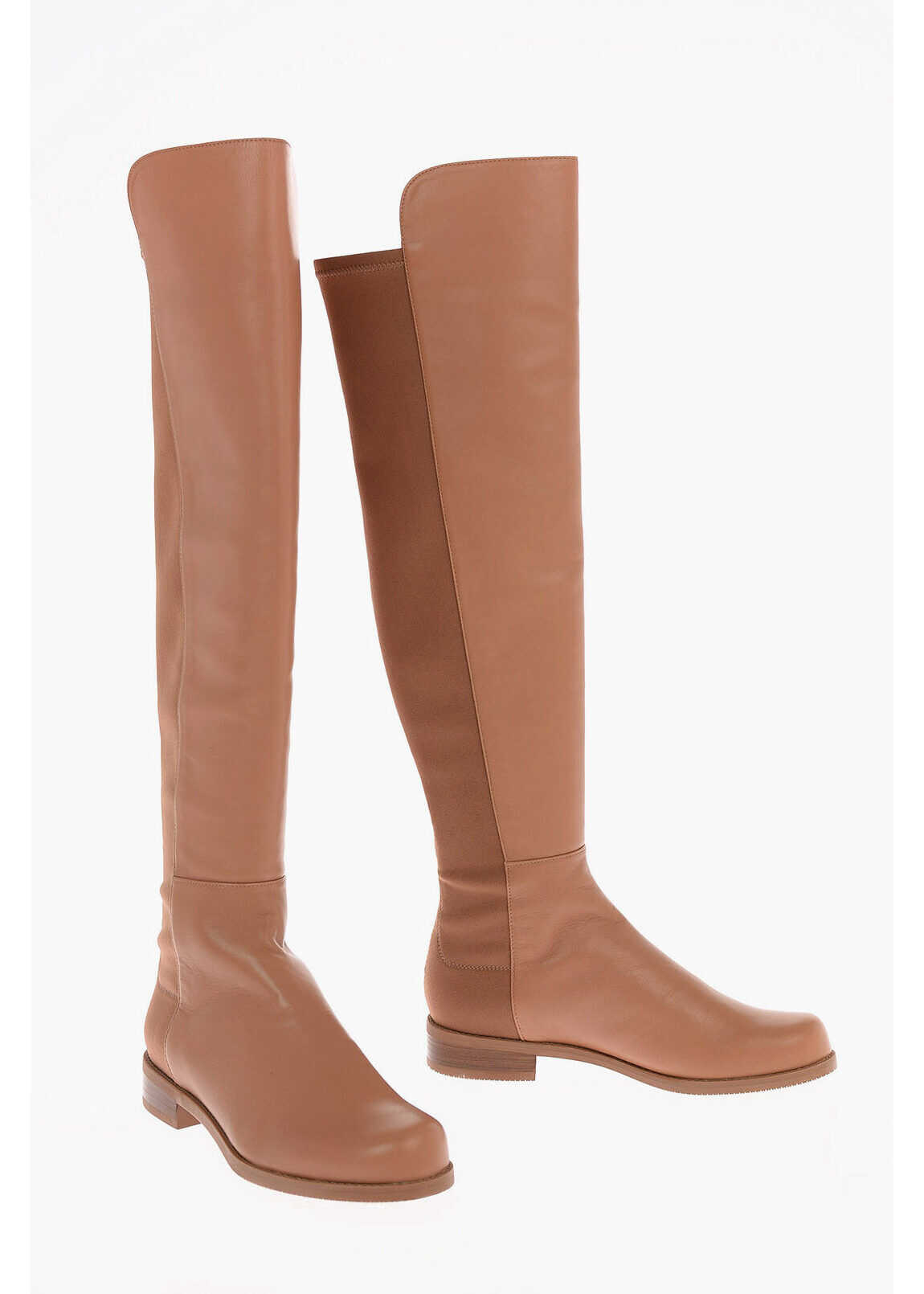 Stuart Weitzman Pull On 5050 Over the Knee Boots 3 cm BROWN imagine b-mall.ro
