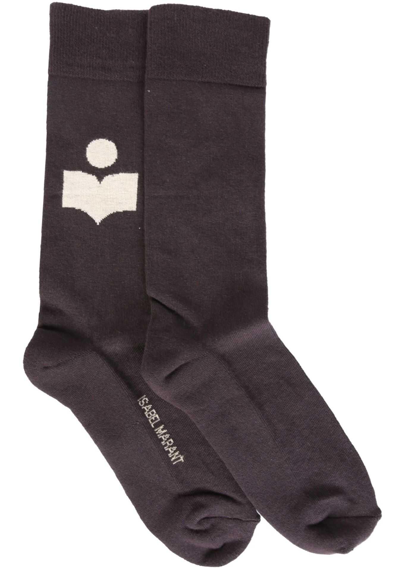 Isabel Marant Socks With Logo BLACK imagine