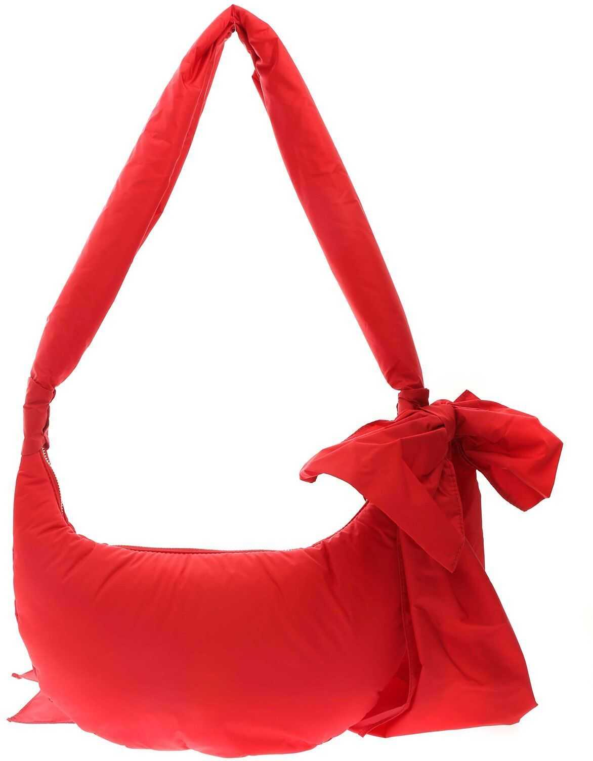 RED VALENTINO Maxi Bow Hobo Bag In Red VQ2B0C44BAAL58 Red imagine b-mall.ro