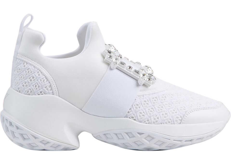 Roger Vivier Viv 'Run Sneaker RVW50624180 KOT White imagine b-mall.ro
