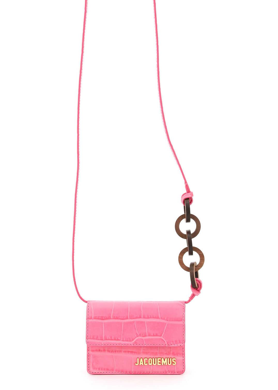 JACQUEMUS Le Petit Riviera Micro Shoulder Bag 211SL03 211 311450 PINK imagine b-mall.ro