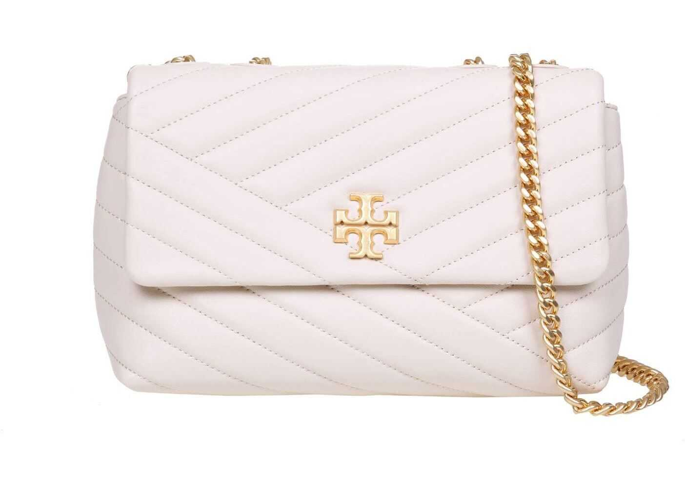 Tory Burch Kira Chevron Small Shoulder Bag In Cream Color 64963 115 Cream imagine b-mall.ro