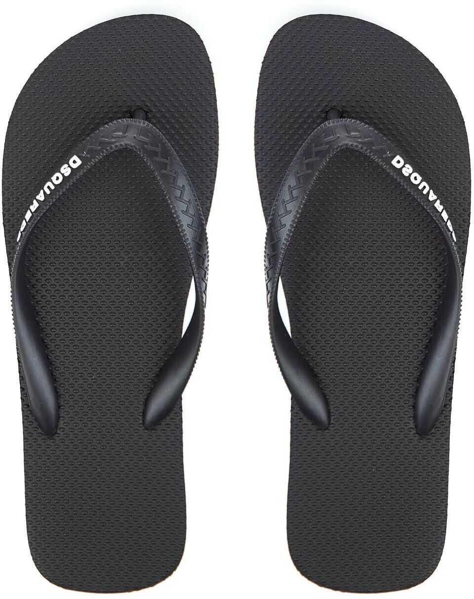 DSQUARED2 Flip Flops Black imagine b-mall.ro