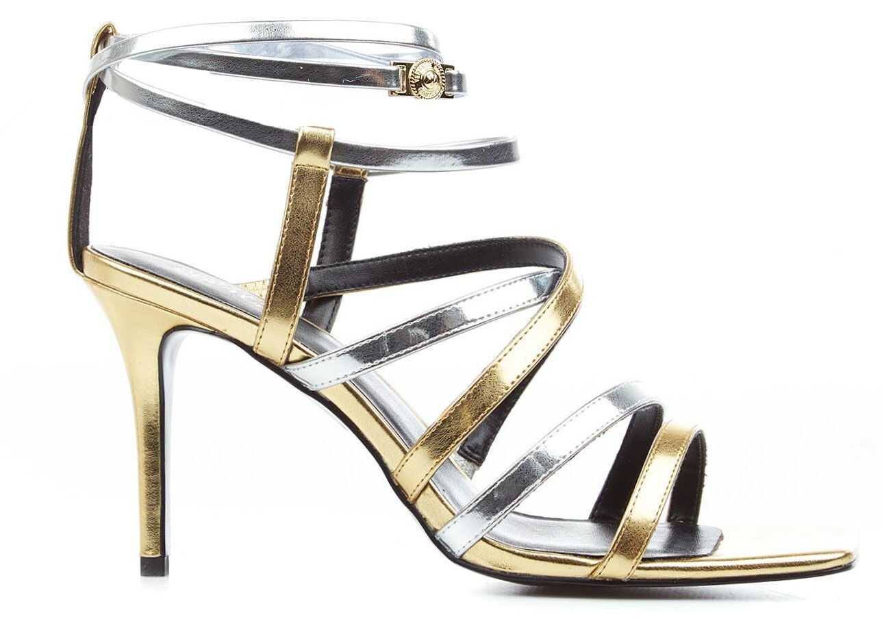 """Versace Sandals with heel """"Emily"""" Gold imagine b-mall.ro"""