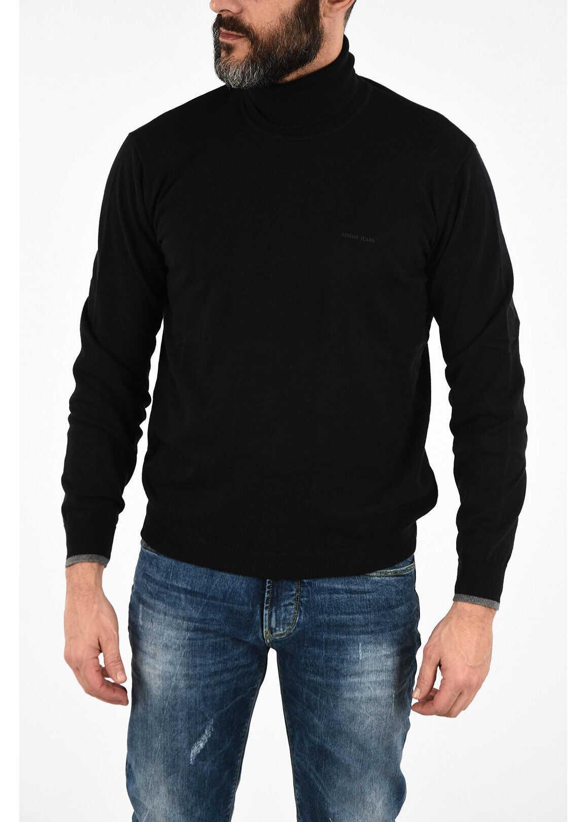 Armani ARMANI JEANS Turtleneck Sweater BLACK imagine