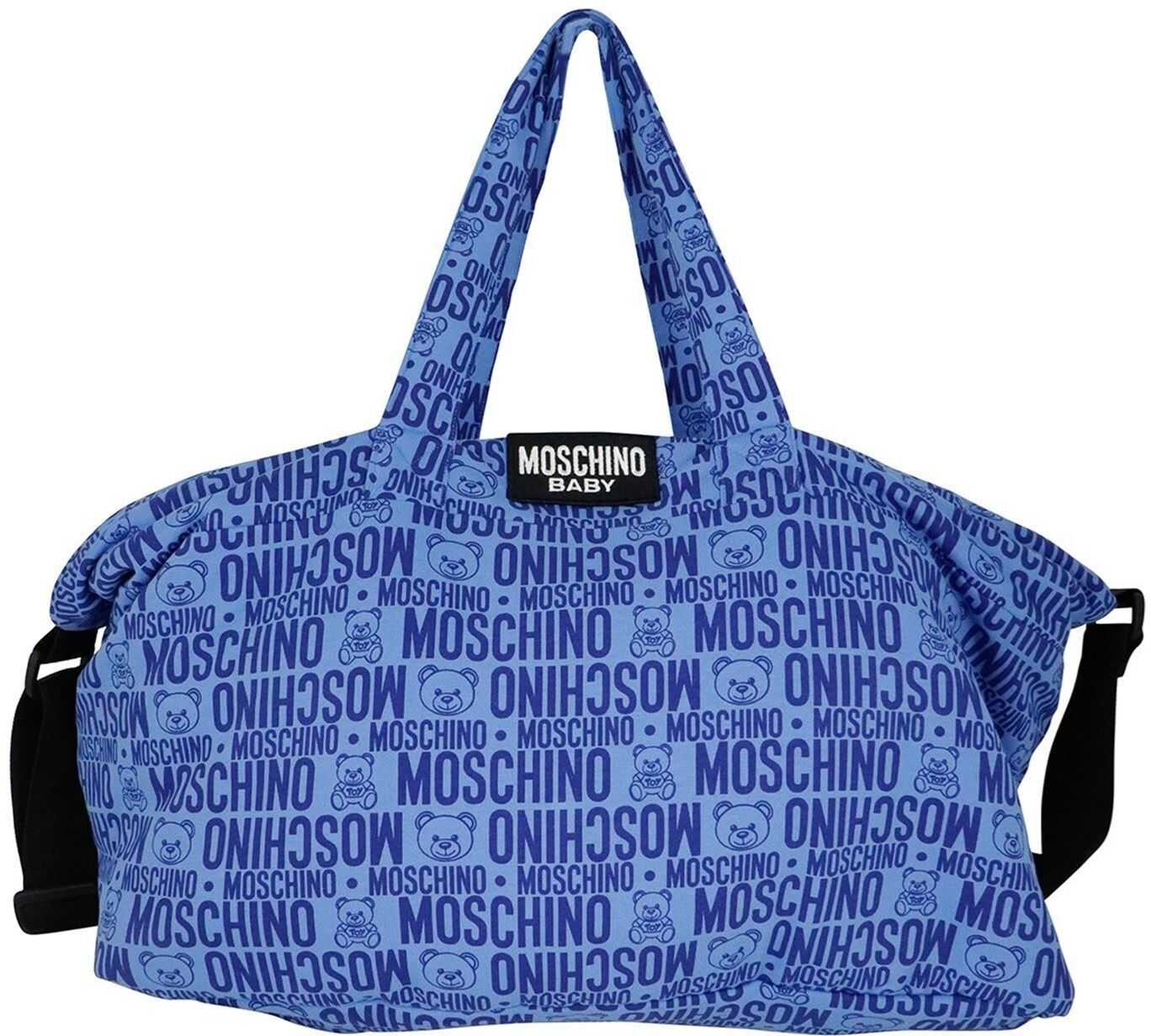 Moschino Logoed Changing Back In Blue MMX03ALDB4985556 Blue imagine b-mall.ro