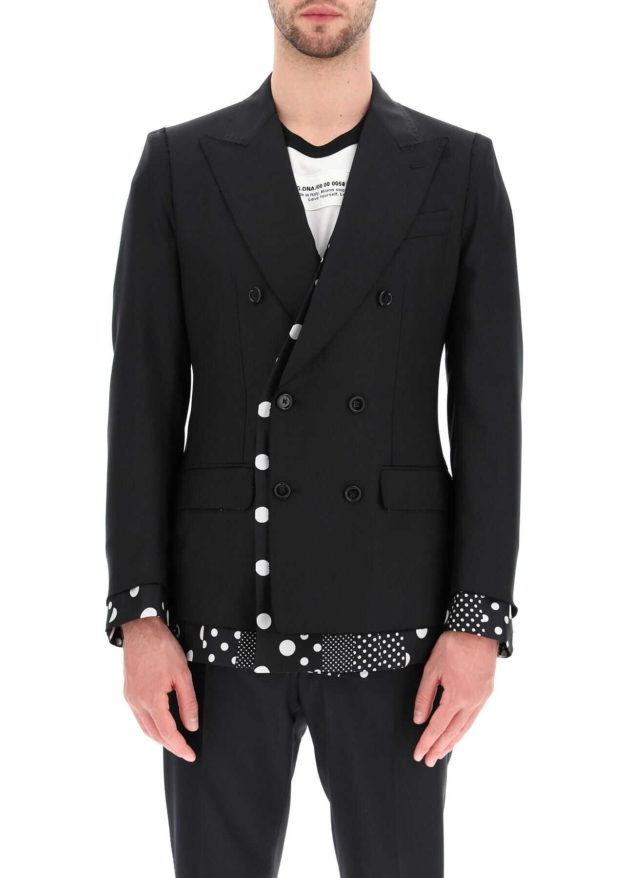 Dolce & Gabbana Sicilia Double-Breasted Jacket NERO imagine