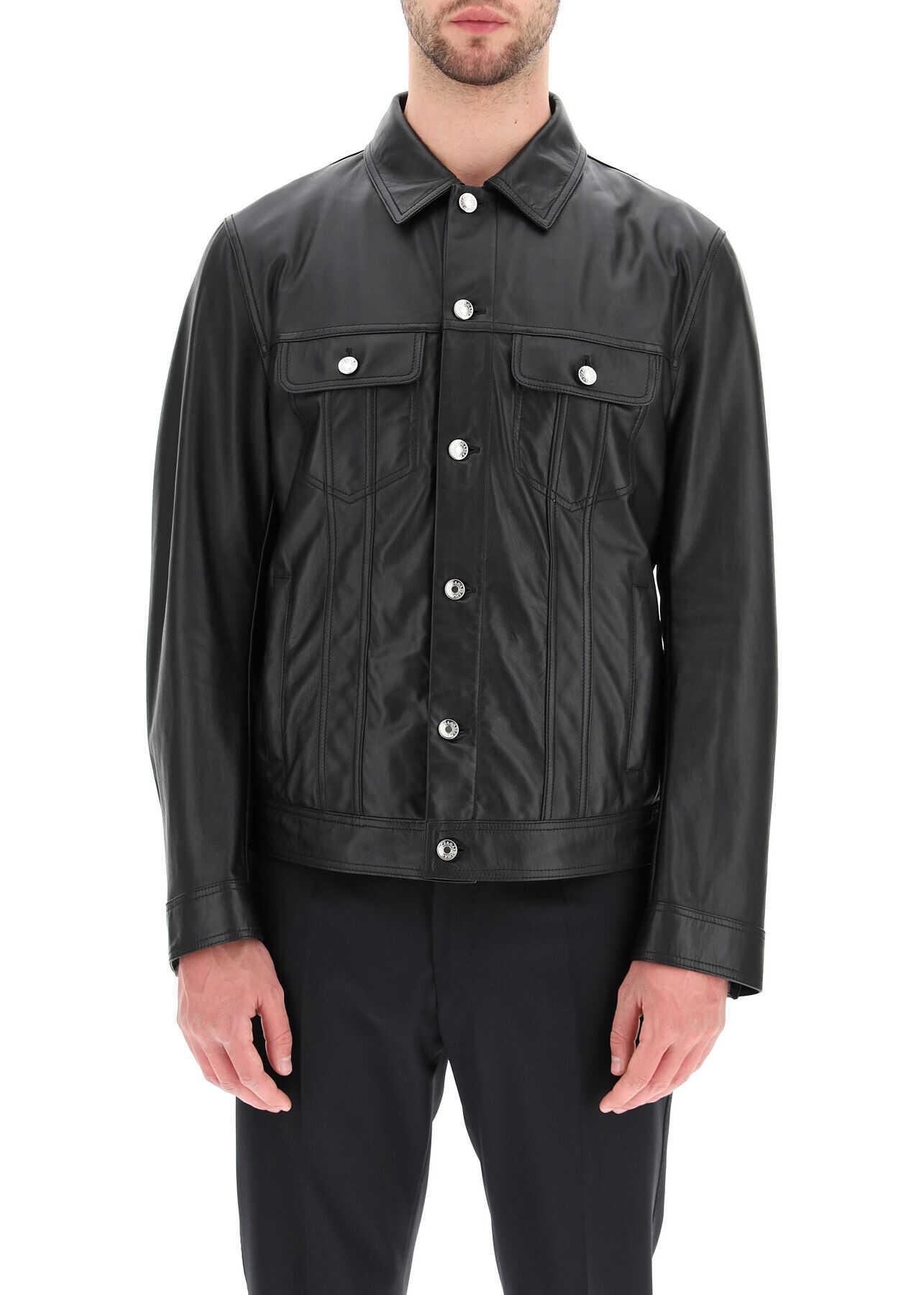 Dolce & Gabbana Leather Jacket NERO imagine