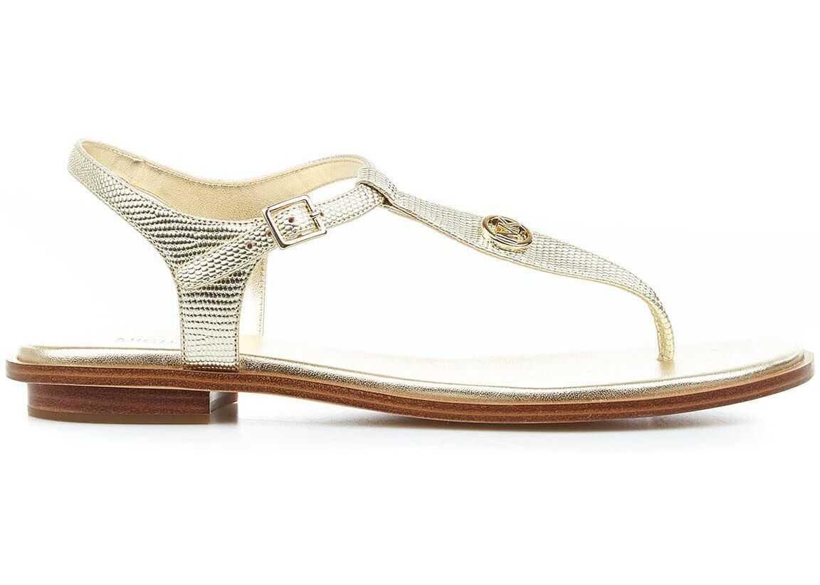 "Michael Kors Sandals ""Mallory Thong"" Gold imagine b-mall.ro"
