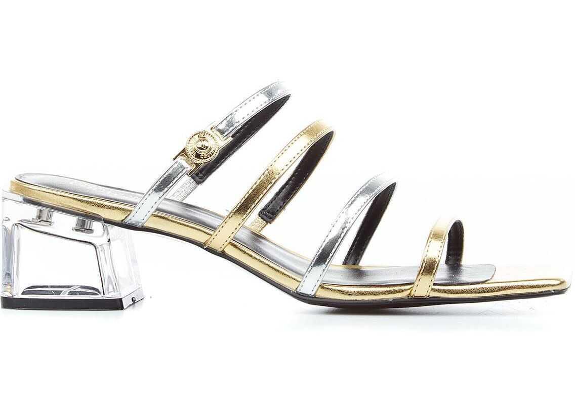"Versace Strappy Sandals ""Twiggy"" Gold imagine b-mall.ro"