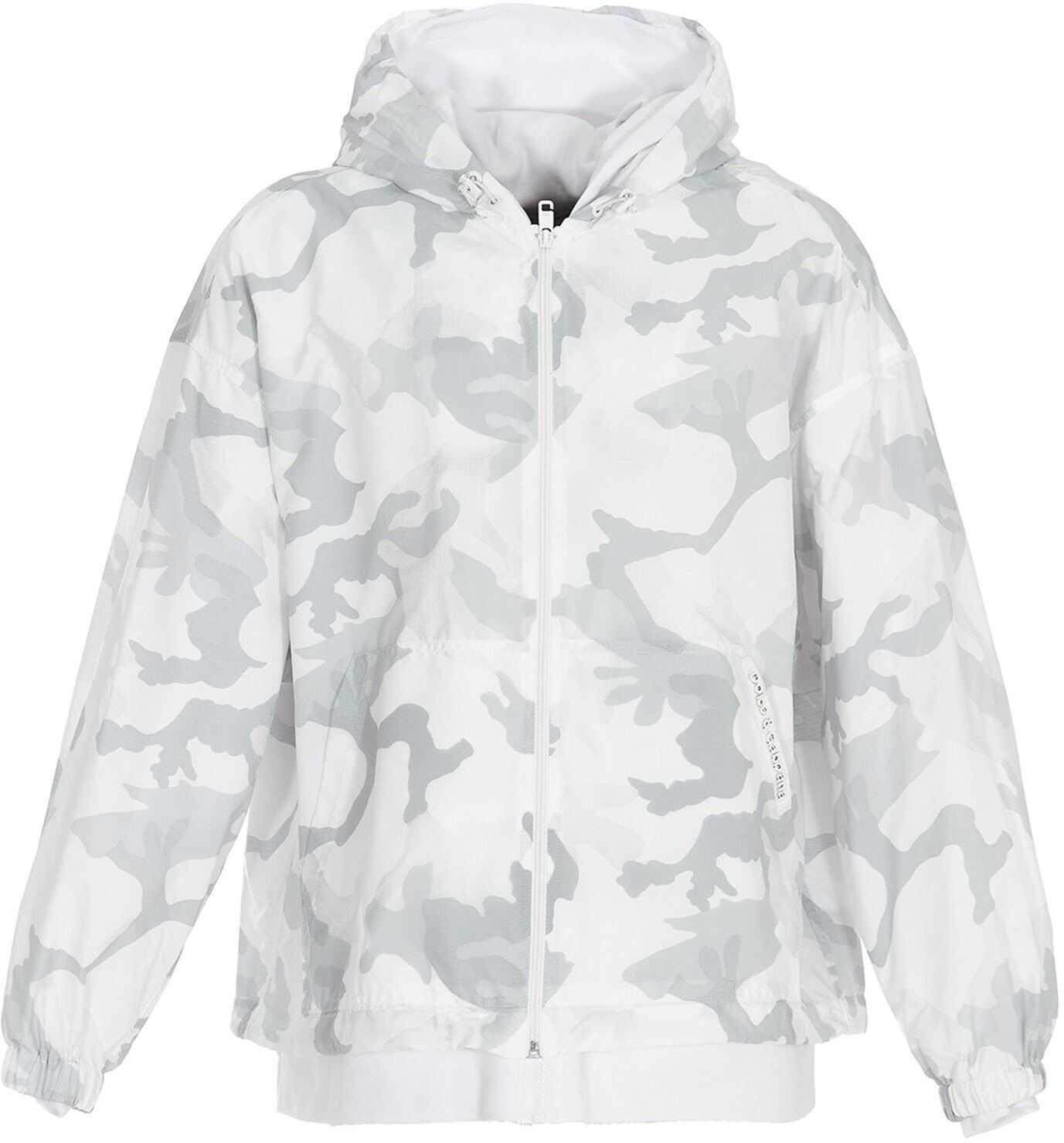 Dolce & Gabbana Hooded Camouflage Jacket In Grey Grey imagine