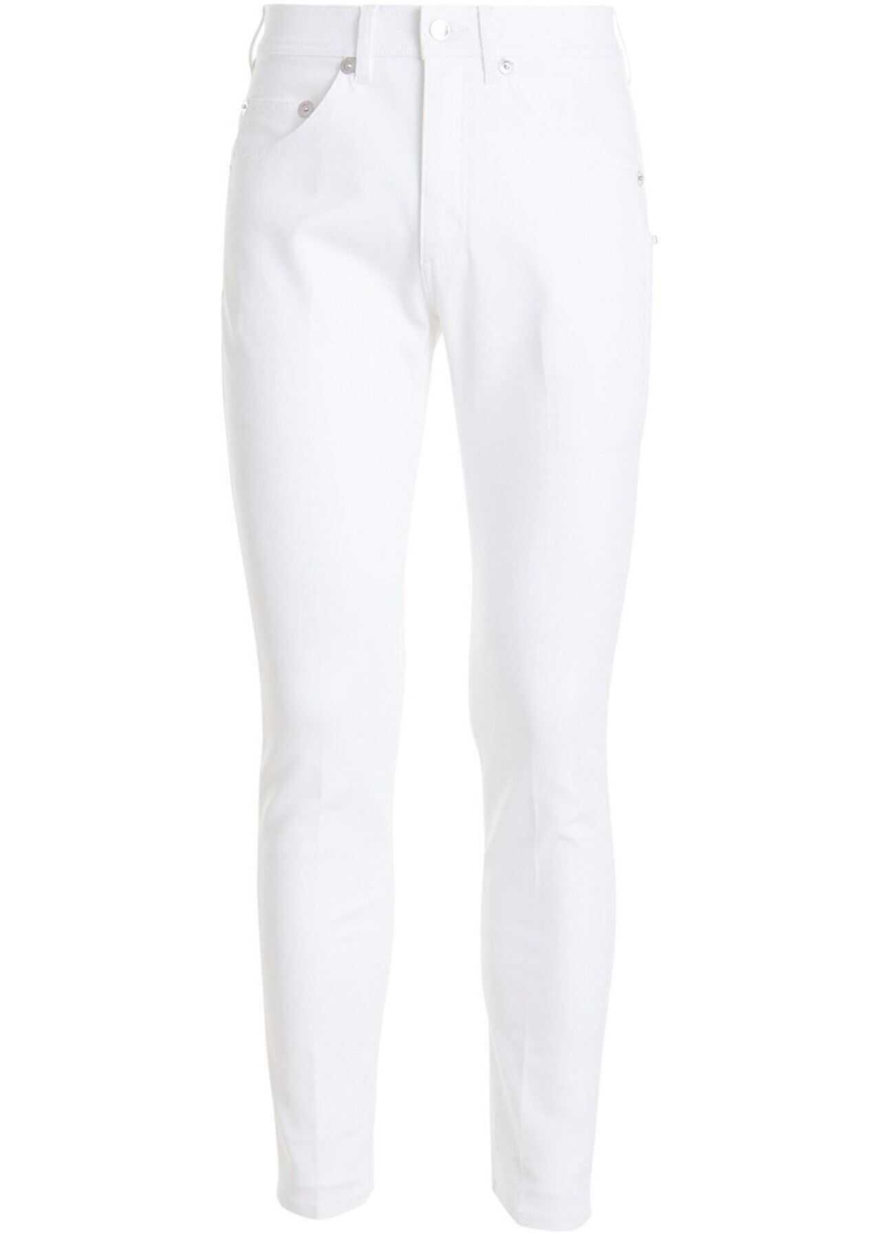Neil Barrett Stretch Denim Skinny Jeans In White White imagine