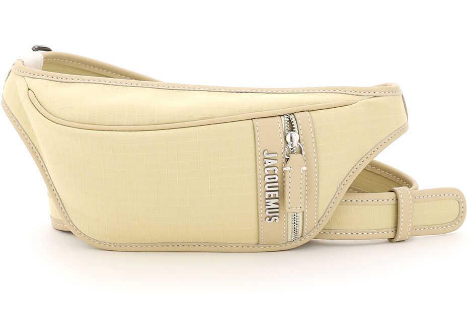 JACQUEMUS La Banane Crossbody Belt Bag 215BA04 215 107230 YELLOW imagine b-mall.ro