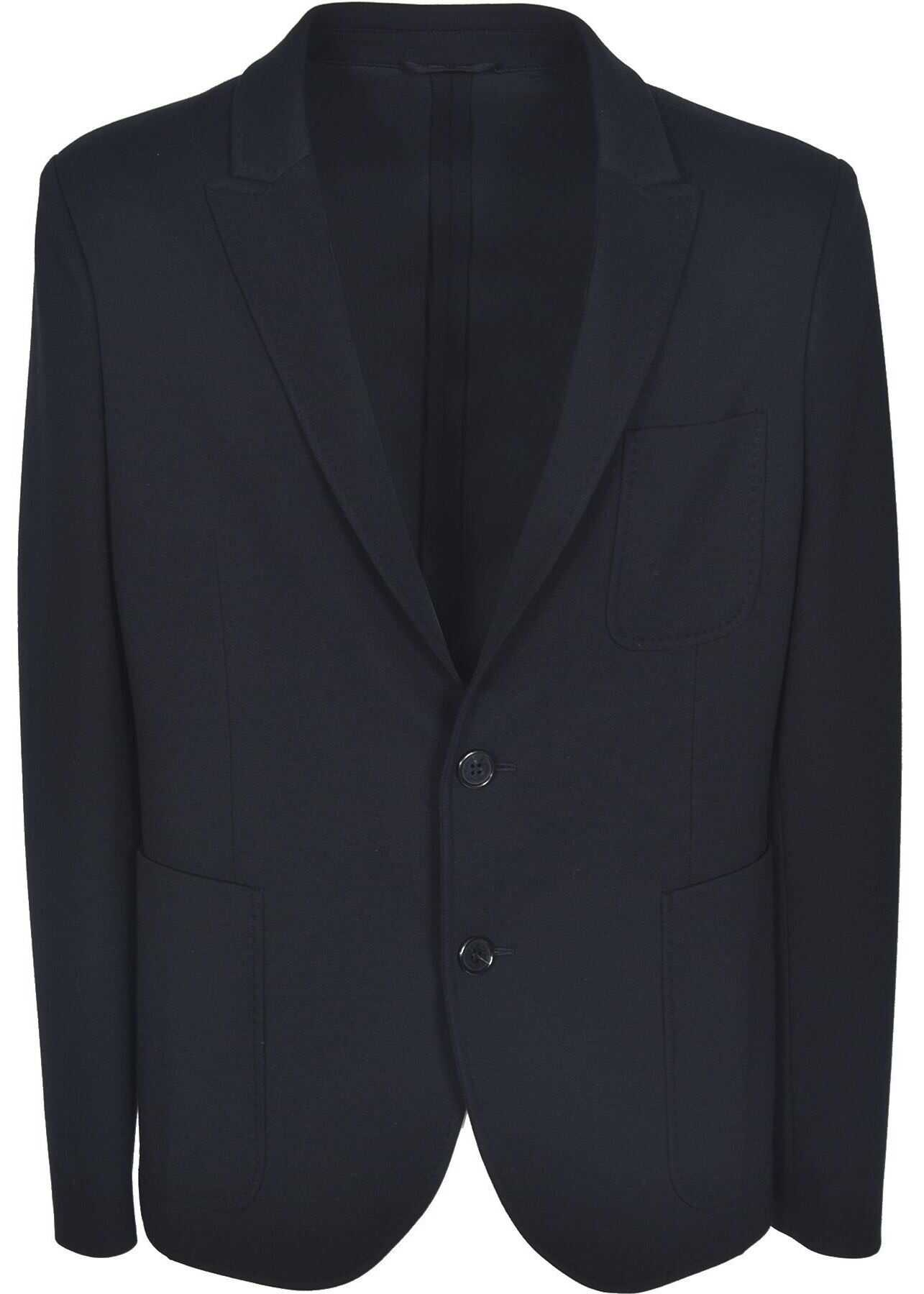 Neil Barrett Single-Breasted Jersey Jacket In Black Black imagine
