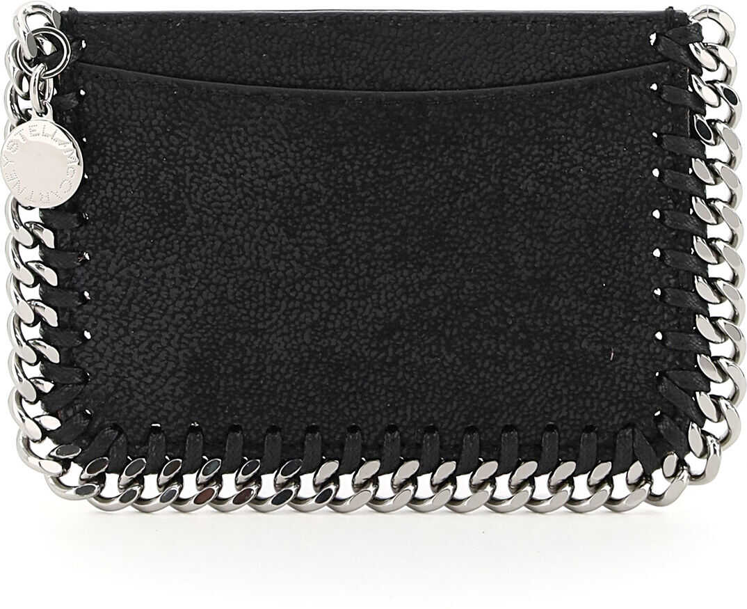 Stella McCartney Falabella Card Holder Pouch 371371 W9132 BLACK imagine b-mall.ro