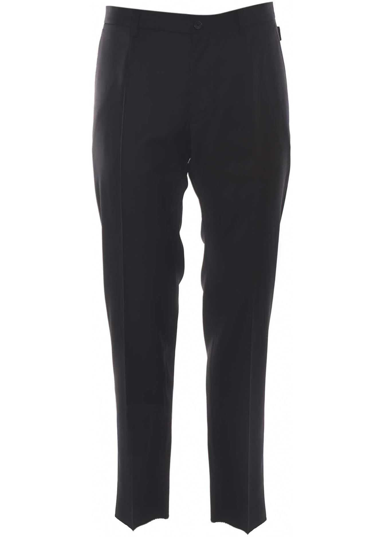 Dolce & Gabbana Tailored Trousers In Black Black imagine