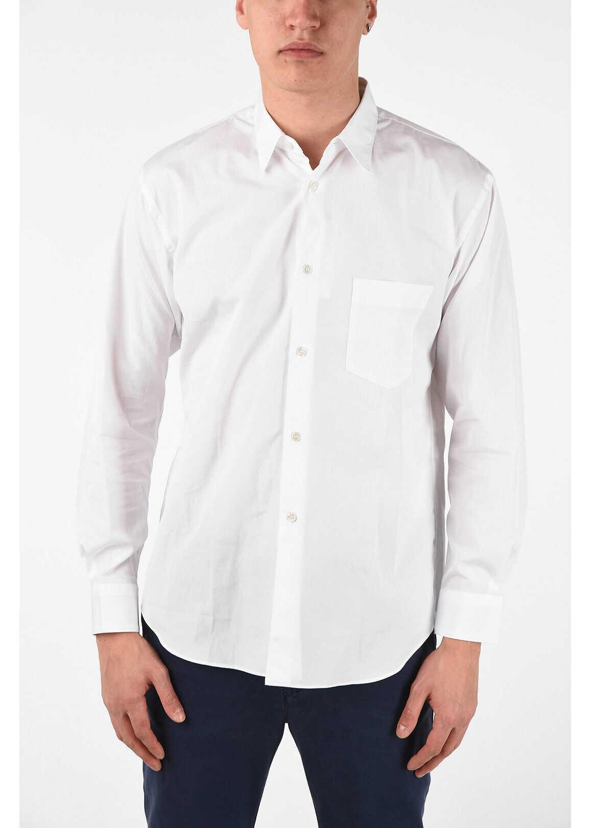 Comme des Garçons FOREVER Cotton Classic Collar Shirt with Pocket WHITE imagine
