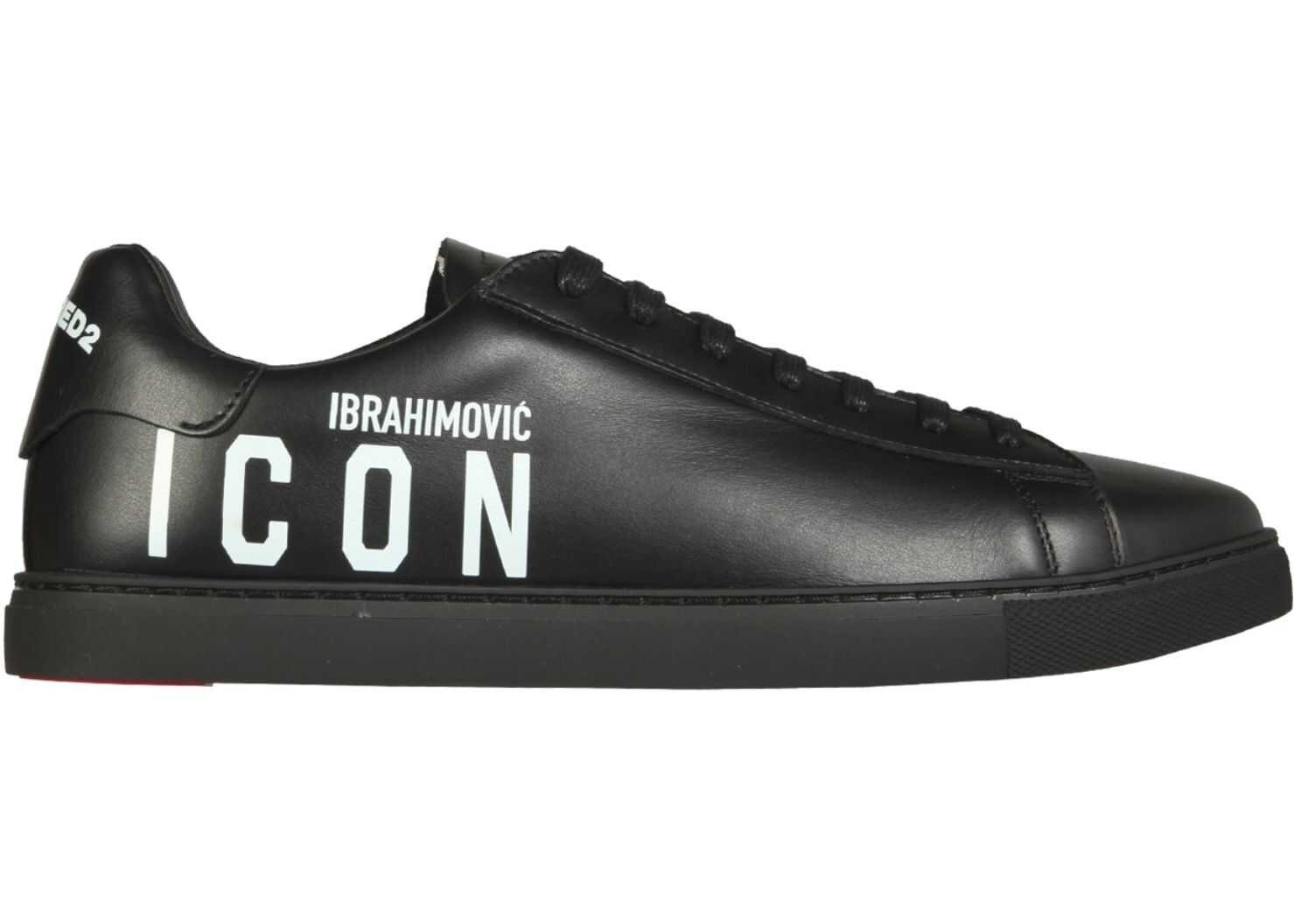 "DSQUARED2 ""New Tennis"" Sneakers SNM0005_01504180M063 BLACK imagine b-mall.ro"