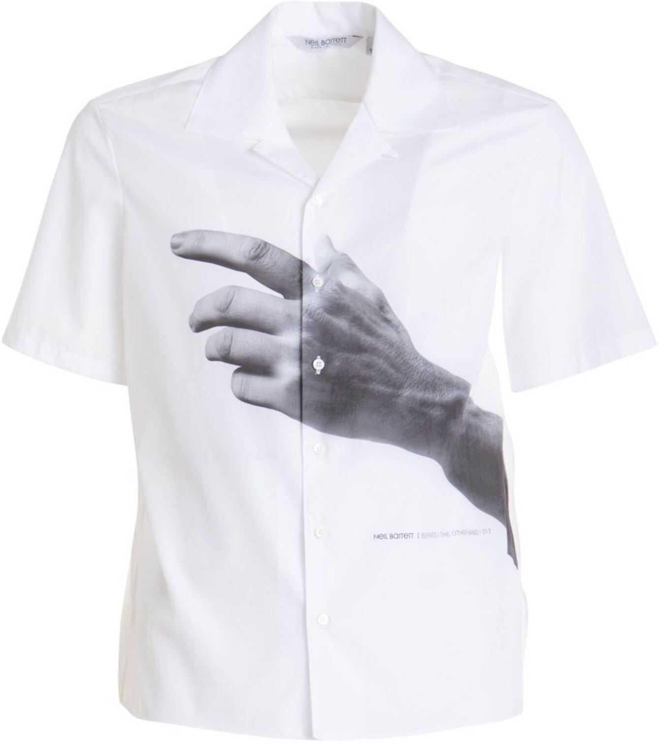 Neil Barrett The Other Hand Series Shirt White imagine