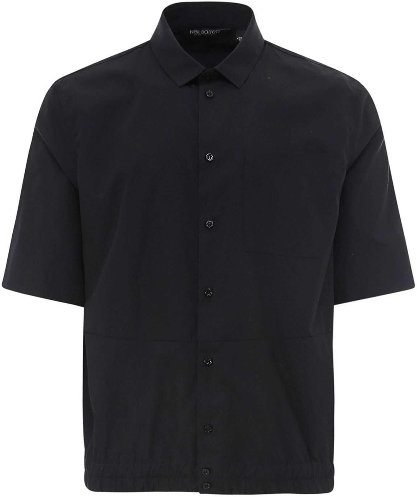 Neil Barrett Cotton Shirt Black imagine