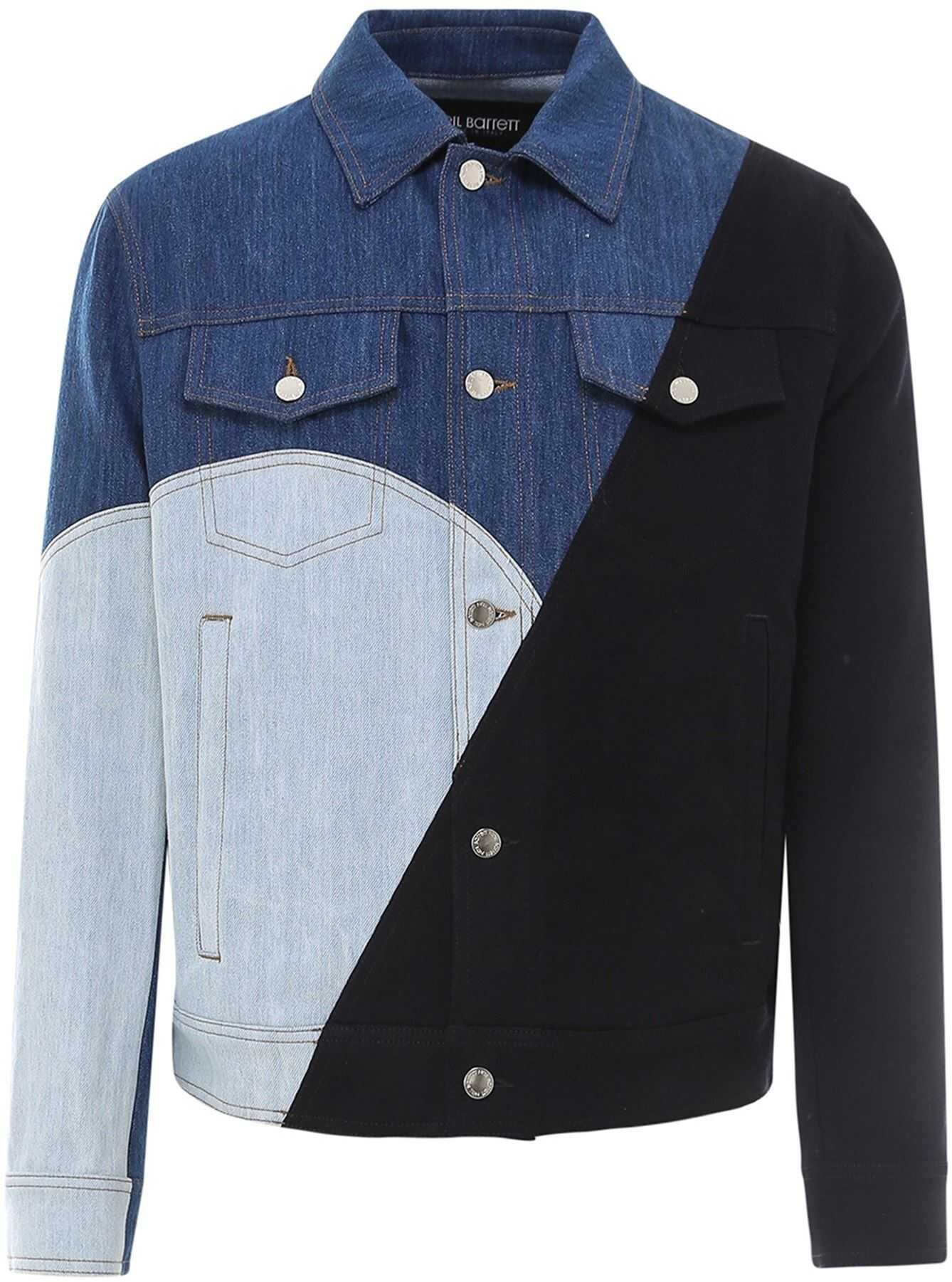 Neil Barrett Denim-Block Jacket Blue imagine
