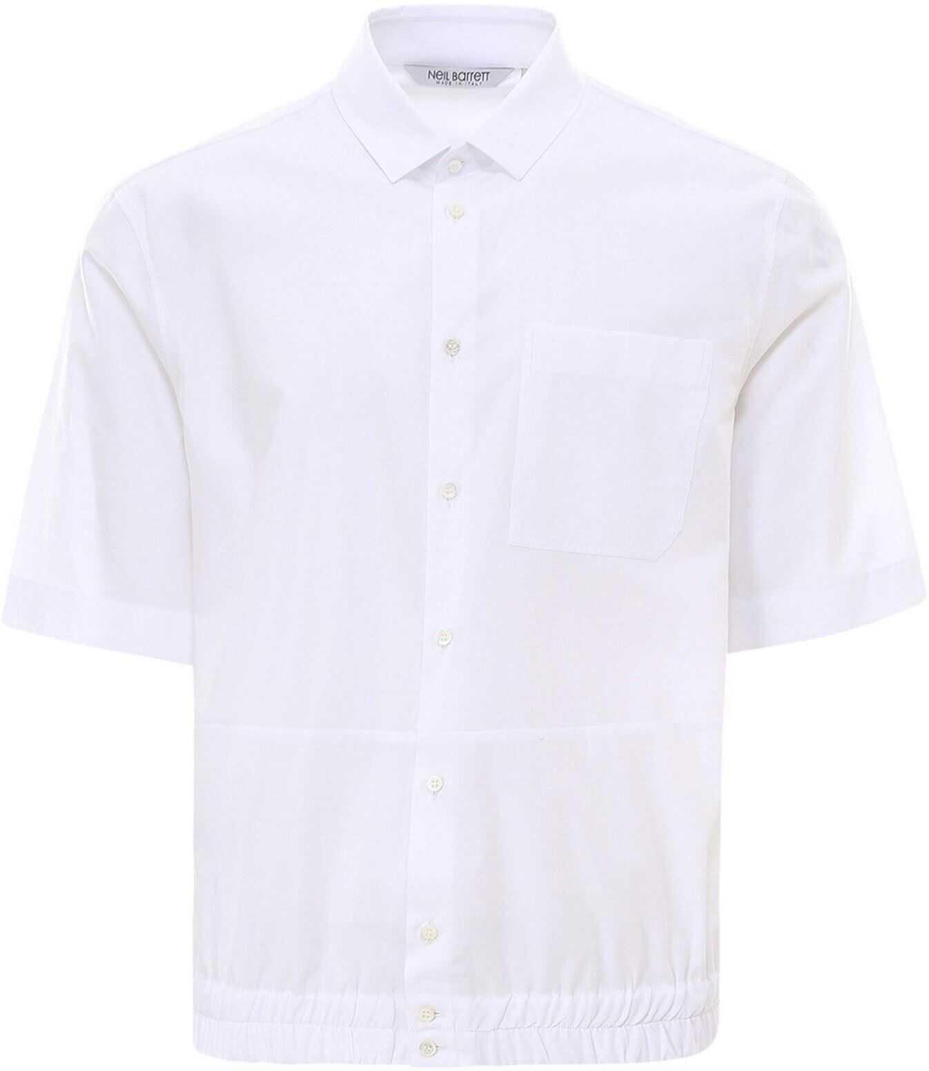 Neil Barrett Cotton Shirt White imagine