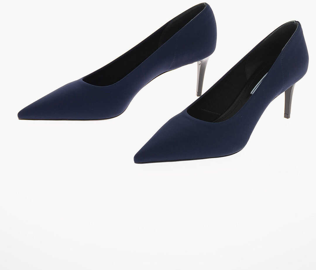 Prada Fabric Stiletto Heel Pumps 6 Cm BLUE imagine b-mall.ro