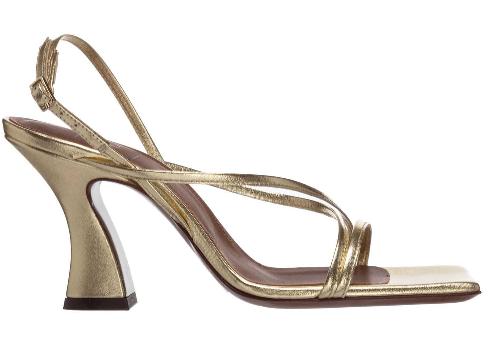 L'Autre Chose Heel Sandals LDN00975CP29145003 Gold imagine b-mall.ro