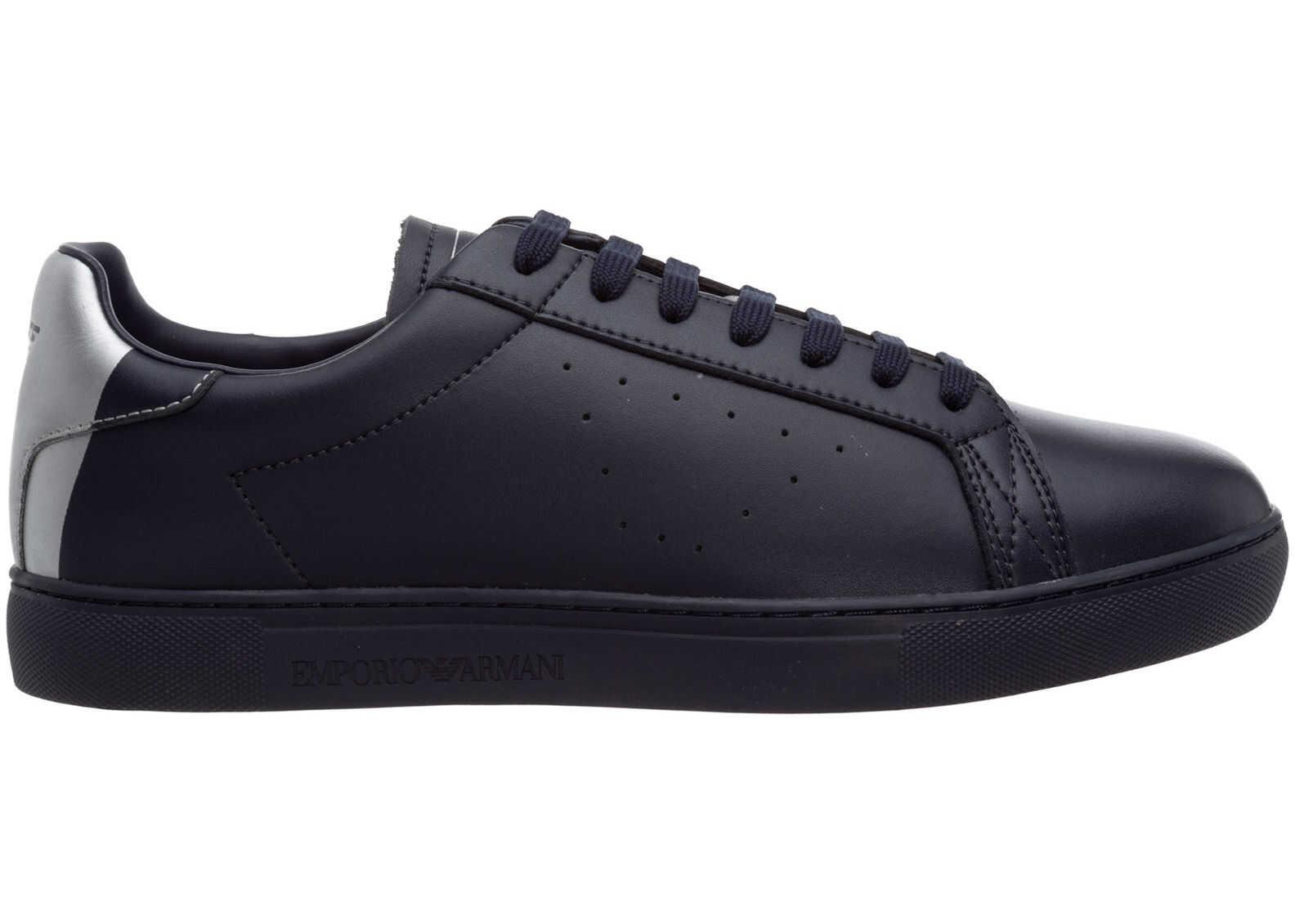 Emporio Armani Trainers Sneakers X4X316XM500N026 Blue imagine b-mall.ro