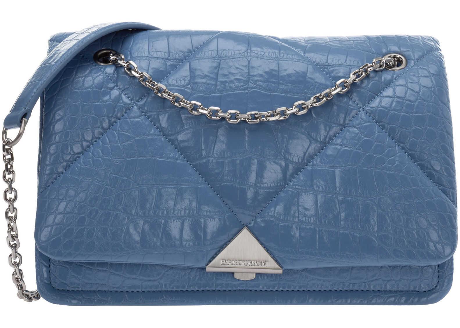 Emporio Armani Shoulder Bag Y3B142Y277U80214 Light blue imagine b-mall.ro