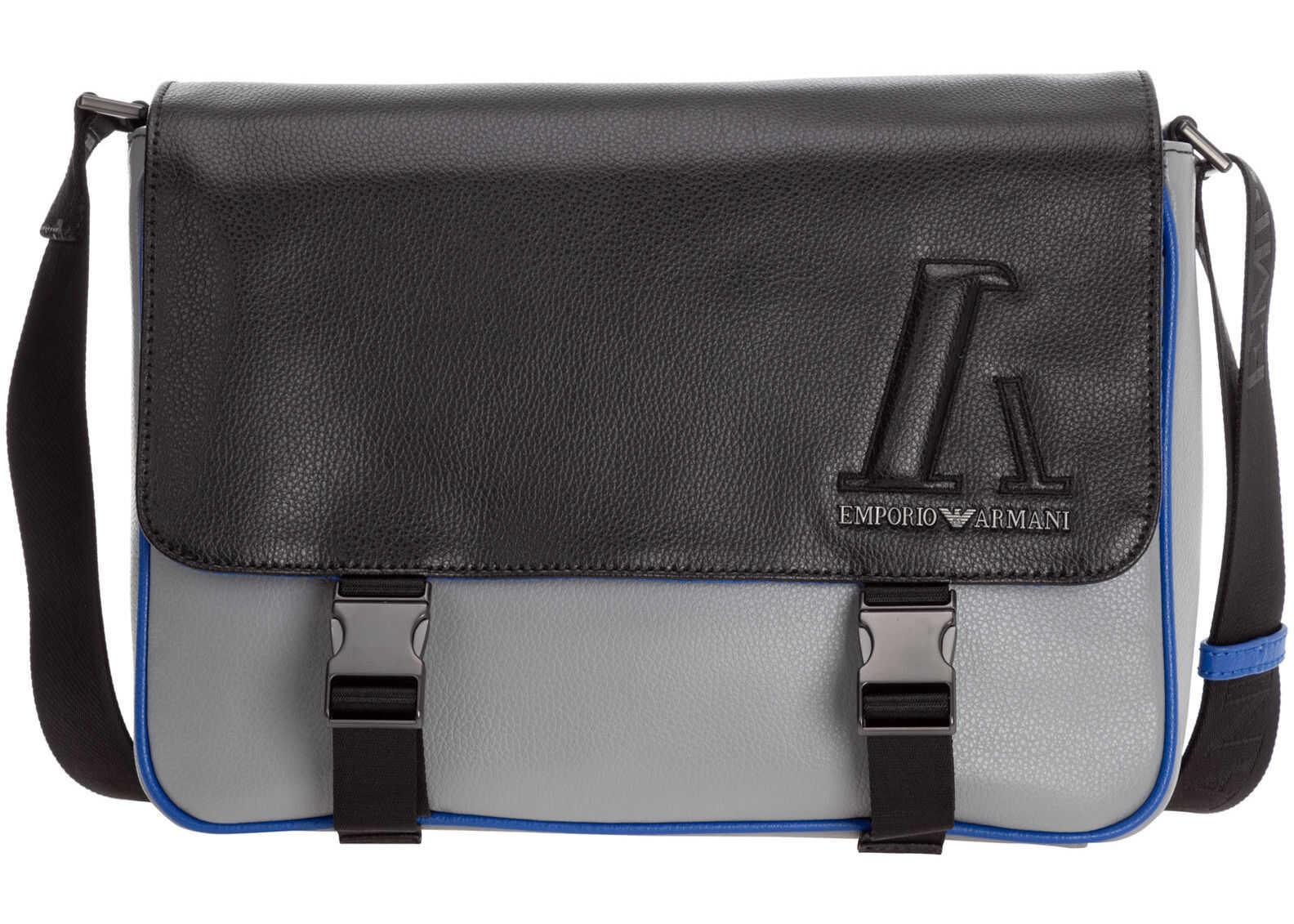Emporio Armani Shoulder Bag Y4M240Y016J85152 Grey imagine b-mall.ro