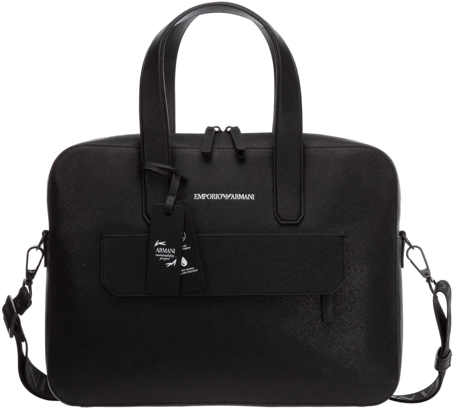 Emporio Armani Pc Bag Y4P139Y020V81072 Black imagine b-mall.ro