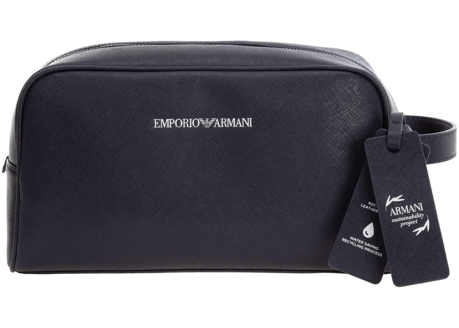 Emporio Armani Wash Bag Y4R319Y020V85159 Blue imagine b-mall.ro