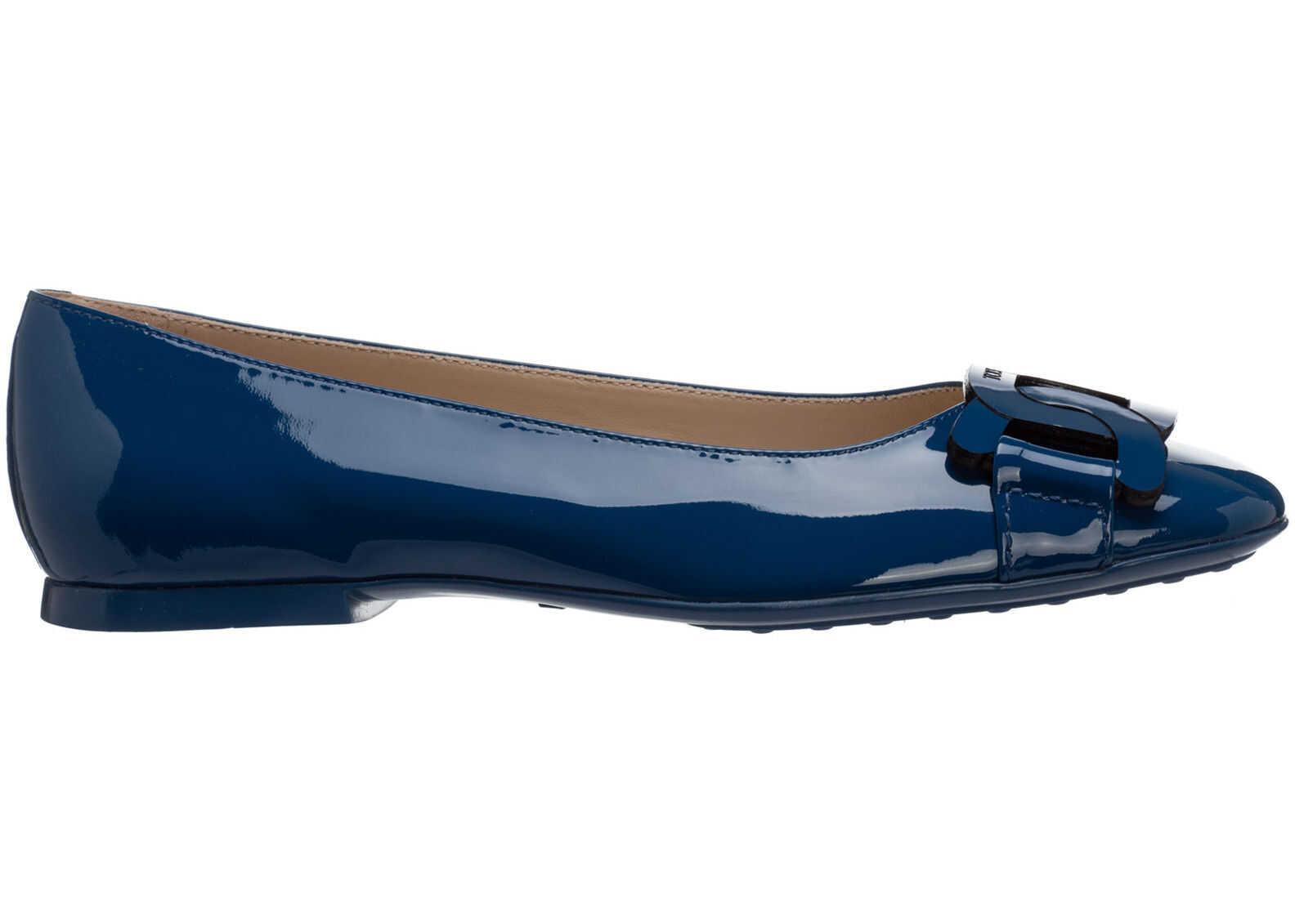 TOD'S Flats Ballerinas XXW06D0EB40SFKU405 Blue imagine b-mall.ro