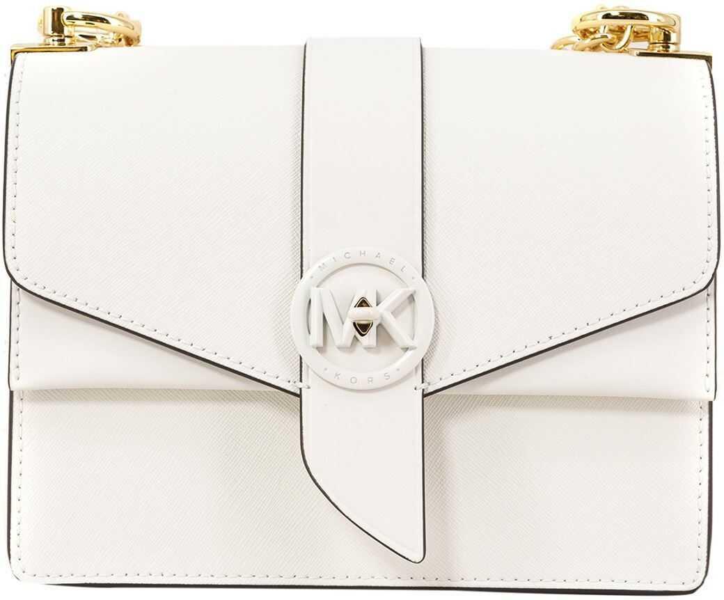 Michael Kors Greenwich Smal Bag In White 32S1GGRC0UOPTICWHITE White imagine b-mall.ro