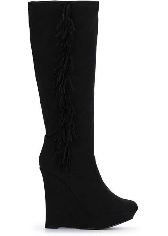 Michael Antonio Enzo Black Suede Boots Black