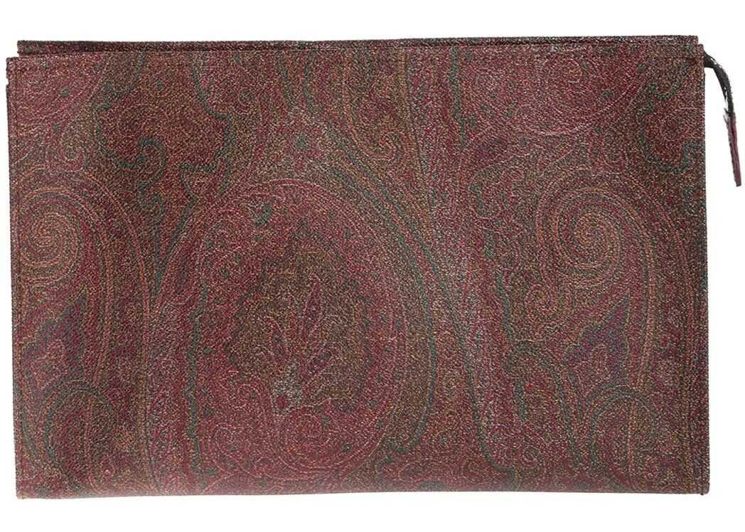 ETRO Paisley Beauty Case In Brown 000538007600 Brown imagine b-mall.ro