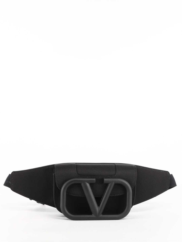 Valentino Garavani Vlogo Signature Urban Belt Bag VY2B0A17 DZK Black imagine b-mall.ro